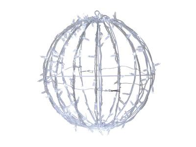 Шар светодиодный 230V, диаметр 30 см, 120 светодиодов, эффект мерцания, цвет белый NEON-NIGHT