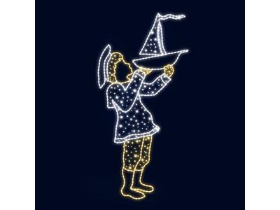Декоративная 2D фигура Мальчик 170 см (цвет на выбор)