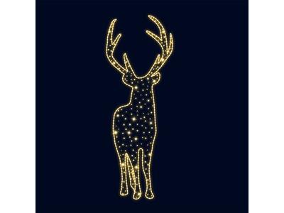 Декоративная 2D фигура Северный олень 250 см (цвет на выбор)