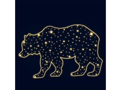 Декоративная 2D фигура Медведь 250 см (цвет на выбор)