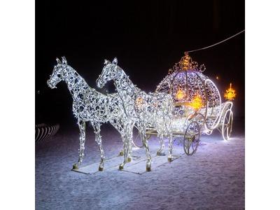 Декоративная декорация Кресло санты 185 см(цвет на выбор)
