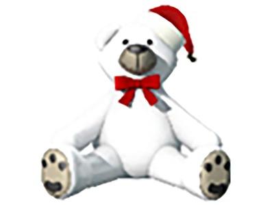 Декоративная объемная фигура Медведь с шапкой 180 см (цвет на выбор)