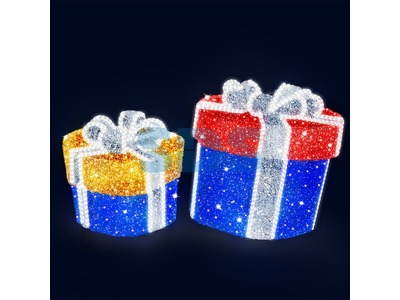 Декоративная 3D фигура Подарок-4 70 см (цвет на выбор)