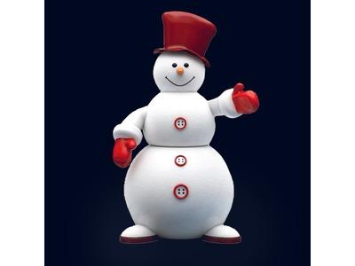 Декоративная объемная фигура Снеговик-1 200 см (цвет на выбор)