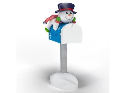 Декоративная объемная фигура Снежная почта 180 см (цвет на выбор)