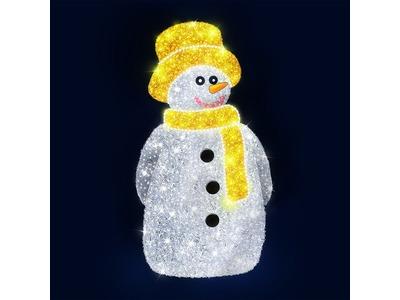 Декоративная 3D фигура Снеговик в шляпе 220 см (цвет на выбр)