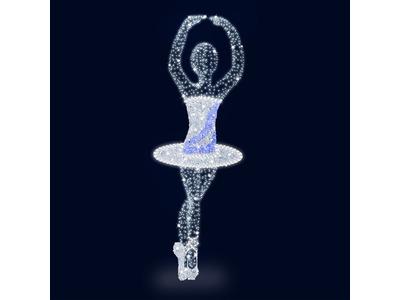 Декоративная 3D фигура Балерина 200 см (цвет на выбор)