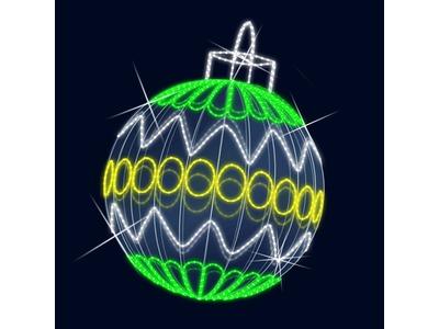 Декоративная 3D фигура Елочный шар 127 см (цвет на выбор)