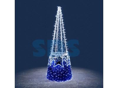 Декоративная елка Шары 300 см (цвет на выбор)