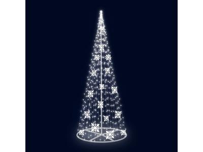 Декоративная елка Снежинки 300 см (цвет на выбор)