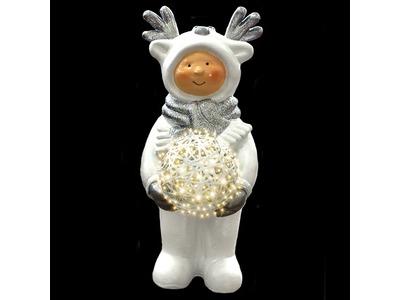 Декоративная объемная фигура Олененок «Snowy-1» 100 см (цвет на выбор)