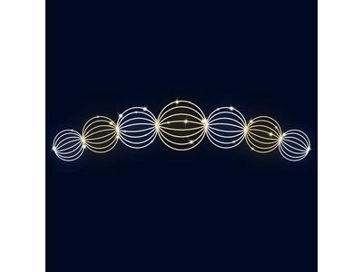 Декоративная перетяжка Шары 600х140 см (цвет на выбор)