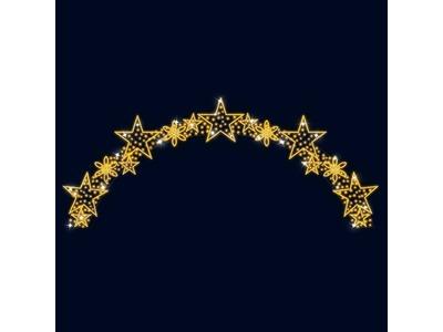 Декоративная перетяжка Звездное небо 600х250 см (цвет на выбор)