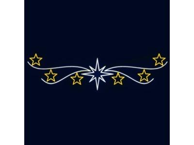 Декоративная перетяжка Звезды 600х150 см (цвет на выбор)