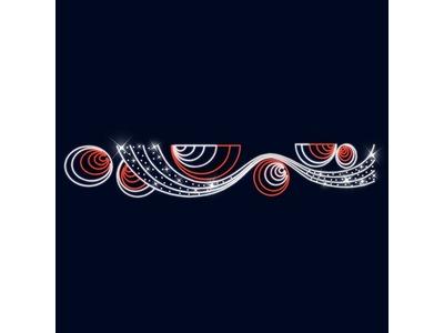 Декоративная перетяжка Космос 600х100 см (цвет на выбор)