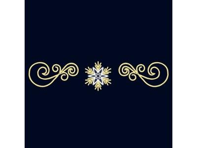 Декоративная перетяжка Снежный узор 550х150 см (цвет на выбор)