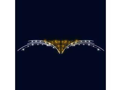 Декоративная перетяжка Крылья 600х100 см (цвет на выбор)