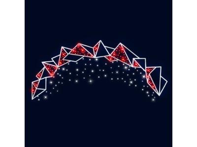 Декоративная перетяжка Айсберг 450х200 см (цвет на выбор)