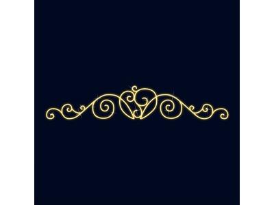 Декоративная перетяжка Кружево 600х120 см (цвет на выбор)