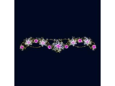 Декоративная перетяжка Цветочная феерия 600х110 см (цвет на выбор)