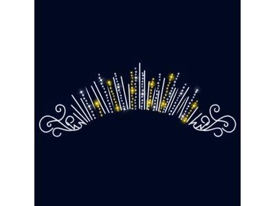 Декоративная перетяжка Торжество 600х255 см (цвет на выбор)