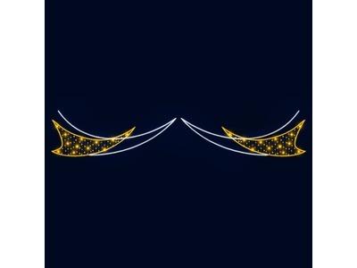 Декоративная перетяжка Лучи 600х110 см (цвет на выбор)