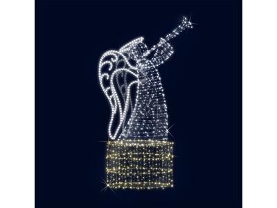 Декоративная 3D фигура Ангел с трубой 180 см (цвет на выбор)