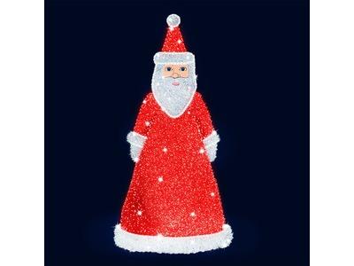Декоративная 3D фигура Дед Мороз 200 см