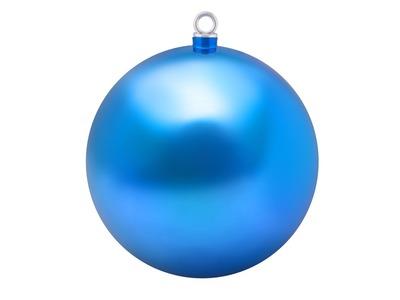 Елочная фигура «Шар» 25 см, цвет синий