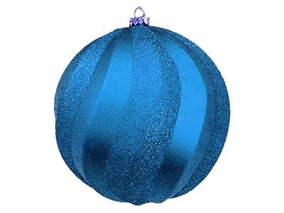 """Елочная фигура """"Шар Вихрь"""", 20 см, цвет синий"""