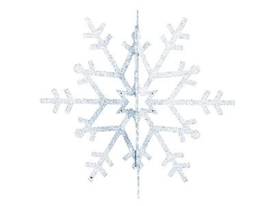 """Елочная фигура """"Снежинка резная 3D"""", 31 см, цвет белый"""