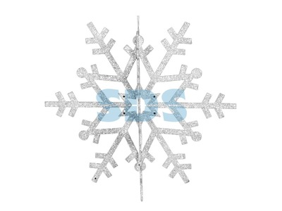 """Елочная фигура """"Снежинка резная 3D"""", 46 см, цвет белый"""