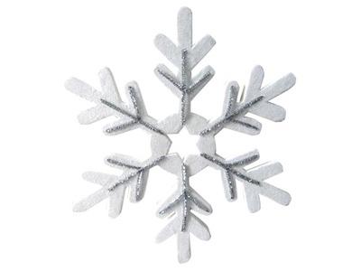 """Елочная фигура """"Снежинка сказочная"""" 40 см, цвет серебряный"""