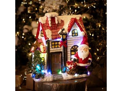 Керамическая фигурка «Рождественский дом» 37.5х20х42.5 см
