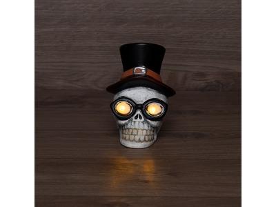Керамическая фигурка «Череп в шляпе» 13.2х10.3х14.3 см