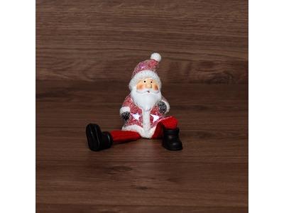 Керамическая фигурка «Дед Мороз» с подвесными ножками 6.3х5.4х10.4 см