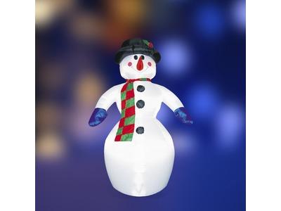 """3D фигура надувная """"Снеговик"""", размер 6 м, компрессор 160 Вт с адаптером 12В, IP 65 NEON-NIGHT"""