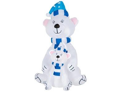 """3D фигура надувная """"Медведица с медвежонком"""", размер 180 см, внутренняя подсветка 2 LED, компрессор с адаптером 12В, IP 65 NEON-NIGHT"""