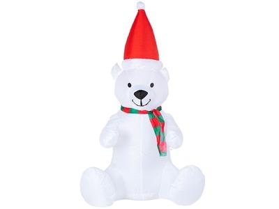 """3D фигура надувная """"Белый медведь"""", размер 120 см, внутренняя подсветка 5 LED, компрессор с адаптером 12В, IP 65 NEON-NIGHT"""