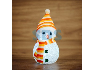 """Фигура светодиодная """"Снеговик"""" 17см, RGB"""