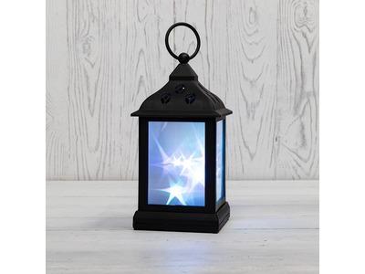 Декоративный фонарь 11х11х22,5 см, черный корпус, цвет свечения RGB с эффектом мерцания NEON-NIGHT