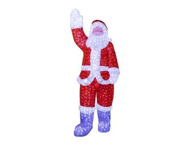 """Акриловая светодиодная фигура """"Санта Клаус"""" 210х75х60 см, IP65 понижающий трансформатор в комплекте, NEON-NIGHT"""