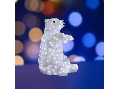 """Акриловая светодиодная фигура """"Белый медведь"""" 36х41х53 см, 200 светодиодов, IP65, понижающий трансформатор в комплекте, NEON-NIGHT"""