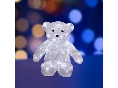 """Акриловая светодиодная фигура """"Медвежонок"""" 30 см, 80 светодиодов, IP65, понижающий трансформатор в комплекте, NEON-NIGHT"""