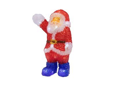 """Акриловая светодиодная фигура """"Санта Клаус приветствует"""" 30 см, 40 светодиодов, IP65 понижающий трансформатор в комплекте, NEON-NIGHT"""