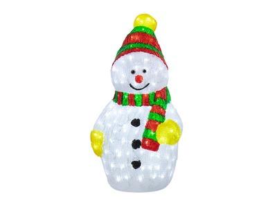 """Акриловая светодиодная фигура """"Снеговик с шарфом"""" 60 см, 200 светодиодов, IP65, понижающий трансформатор в комплекте, NEON-NIGHT"""