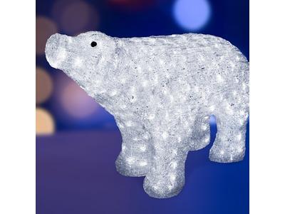 """Акриловая светодиодная фигура """"Белый медведь"""" 80*55 см, IP65, понижающий трансформатор в комплекте, NEON-NIGHT"""