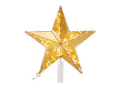 Светодиодная фигура «Звезда» 50 см, 80 светодиодов, с трубой и подвесом, цвет свечения теплый белый NEON-NIGHT