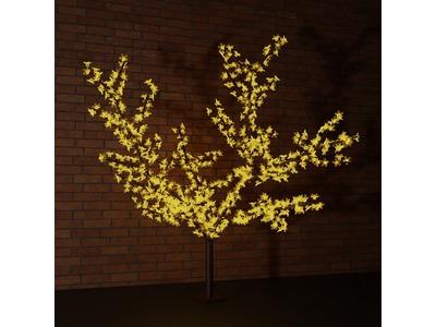 """Светодиодное дерево """"Сакура"""" высота 1,5м, диаметр кроны 1,8м, желтые светодиоды, IP 65, понижающий трансформатор в комплекте, NEON-NIGHT"""
