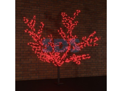 """Светодиодное дерево """"Сакура"""", высота 2,4м, диаметр кроны 2,0, красные светодиоды, IP 65, понижающий трансформатор в комплекте, NEON-NIGHT"""